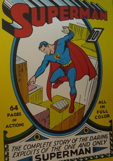 Couverture de Superman par Joe Shuster en 1939 ©Monsieur Benedict