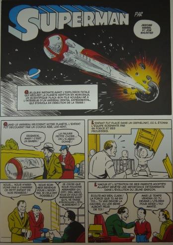 Planche de Superman (1939) ©Monsieur Benedict