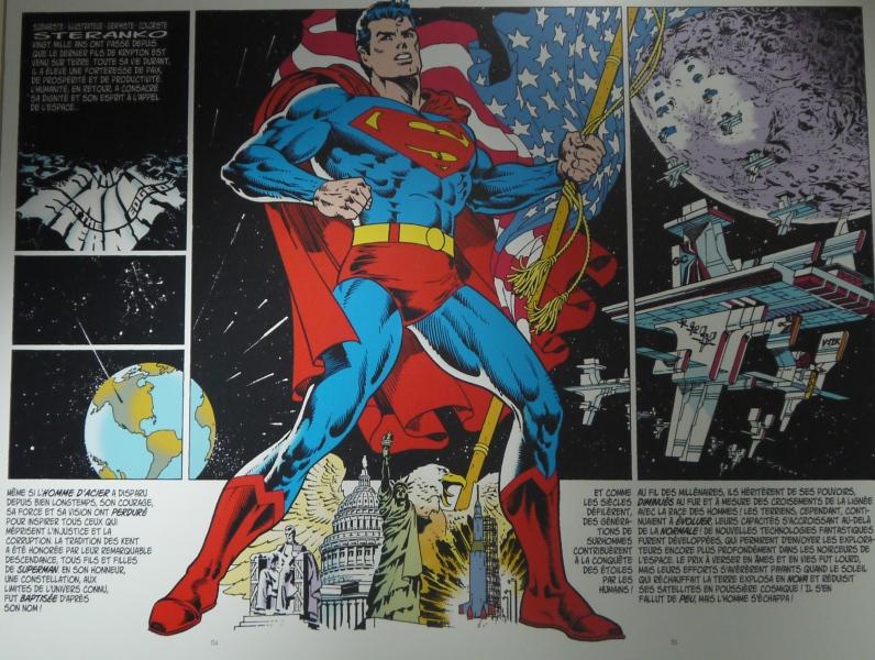 Planche de Superman (1984) ©Monsieur Benedict