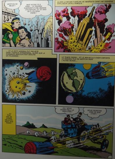 La scène de destruction de la planète Krypton par Bill Finger et Wayne Boring ©Monsieur Benedict