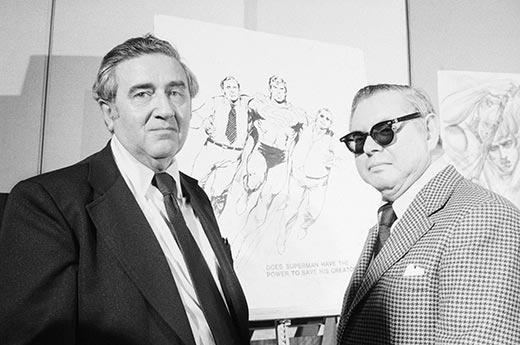 Jerry Siegel (gauche) et Joe Shuster (droite)