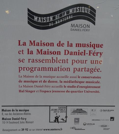 Message de la Maison de la musique et la Maison Daniel Fery ©Monsieur Benedict