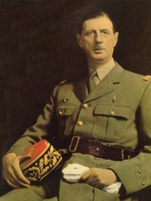 Portrait du général Charles de Gaulle
