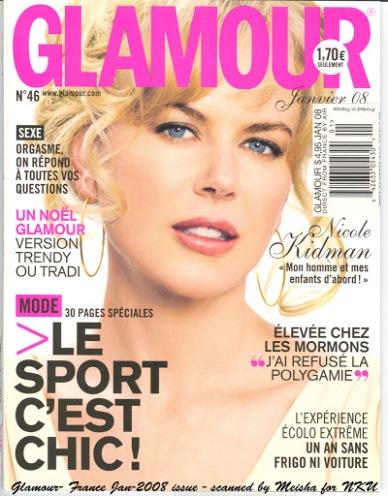 La une du magazine Glamour