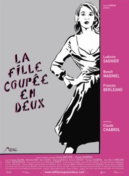 """L'affiche du film """"La fille coupée en deux"""" par ©MissTic"""