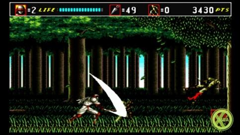 Capture ecran du jeu Shinobi de Sega sur Mega Drive