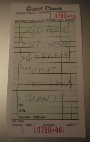 Tracklist personnalisée par l'une des chanteuses ©Monsieur Benedict