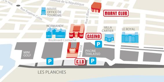 Le plan des lieux du Festival du Cinéma de Deauville