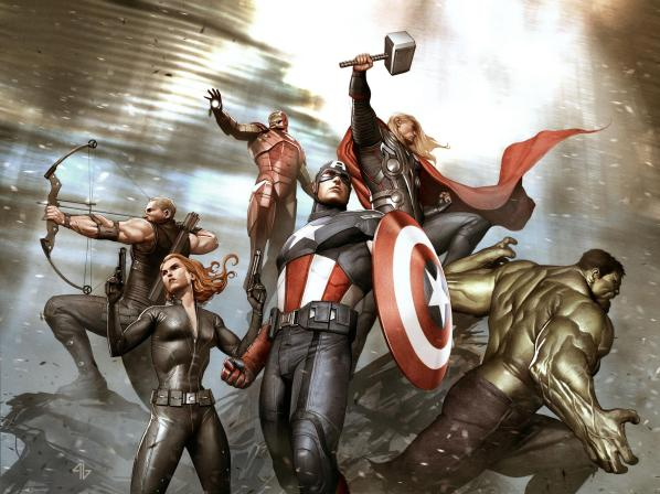 """Avengers"" par Adi Granov"