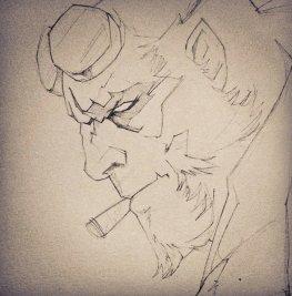 Hellboy par ©Luckystar