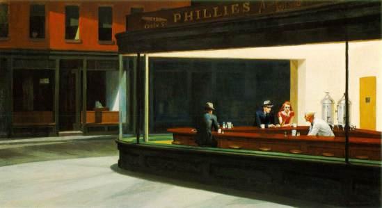 """""""Nighthawks"""" d'Edward Hopper"""