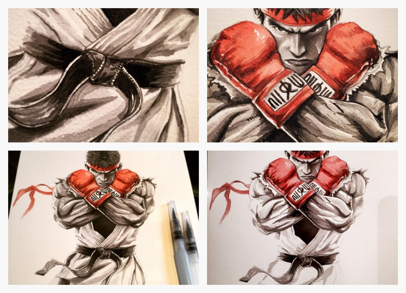 Ryu de Street Fighter © Art Of Supershinobi