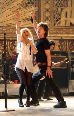 Christina Aguilera et Mike Jagger